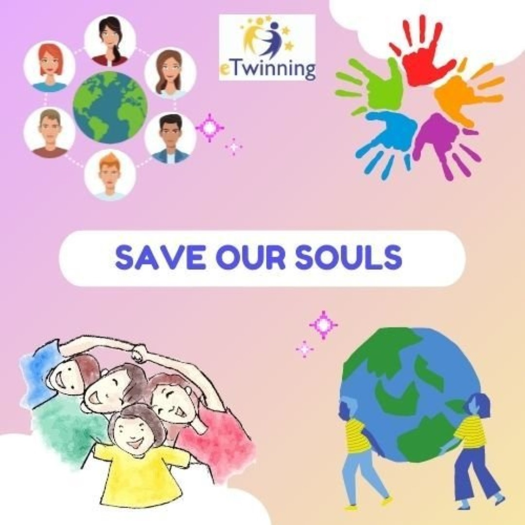 Logo eTwinning  S.O.S Save Our Souls